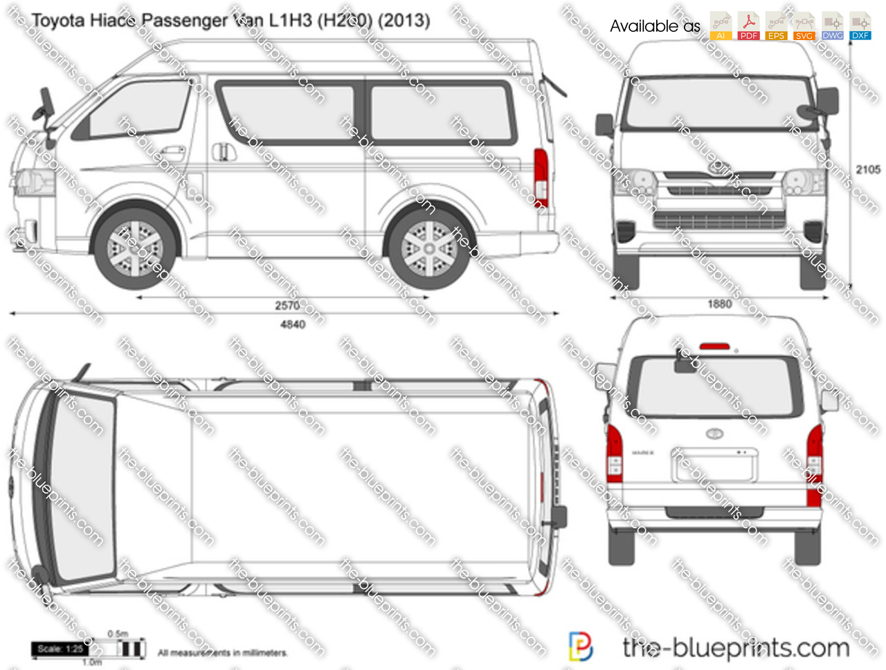 Toyota Hiace Passenger Van L1H3 H200