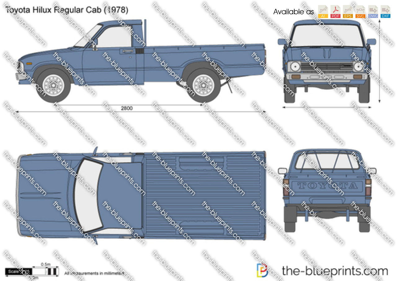 Toyota Hilux Regular Cab on Ford Ranger Blueprint