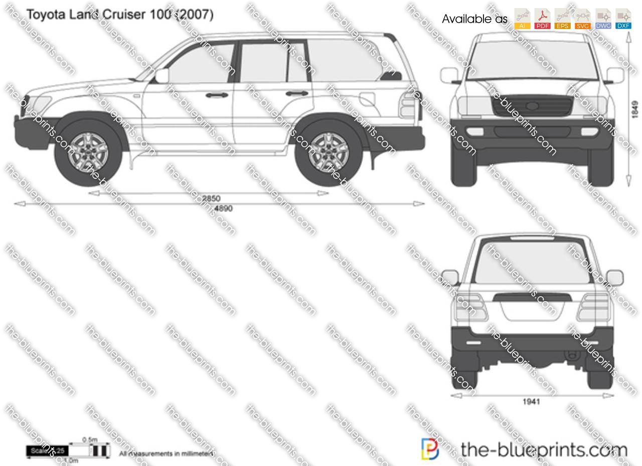 The Blueprints Com Vector Drawing Toyota Land Cruiser 100