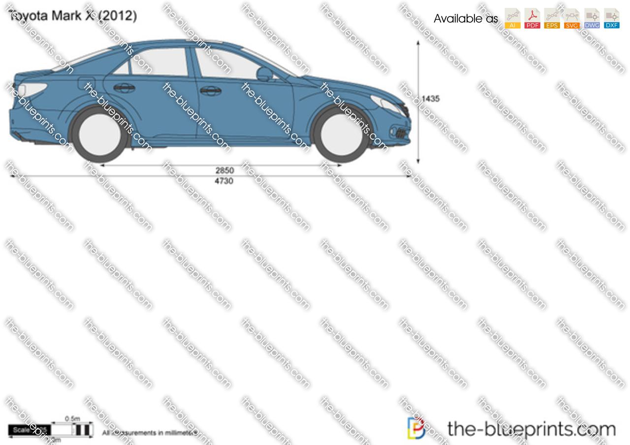 Toyota Mark X Vector Drawing