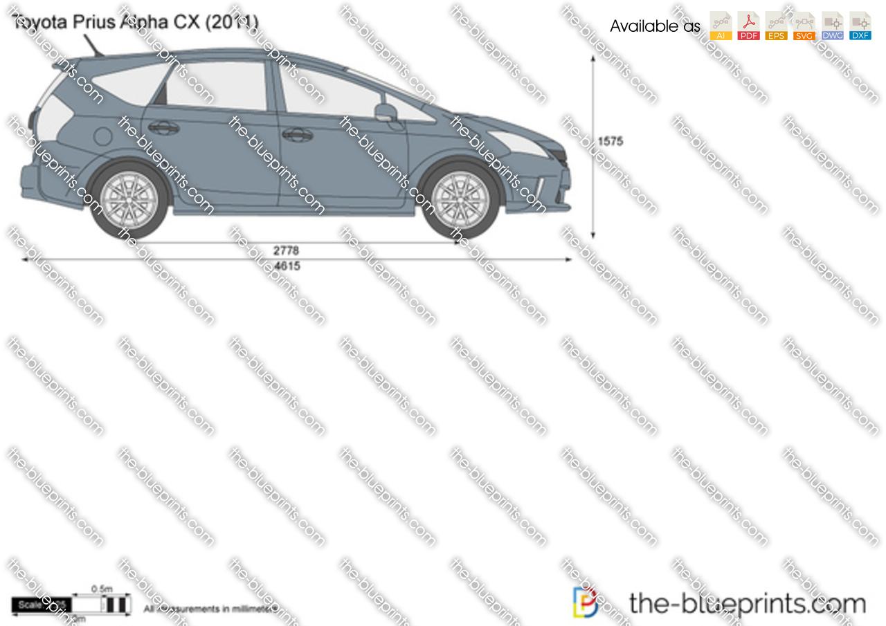 Toyota Prius Alpha CX 2013