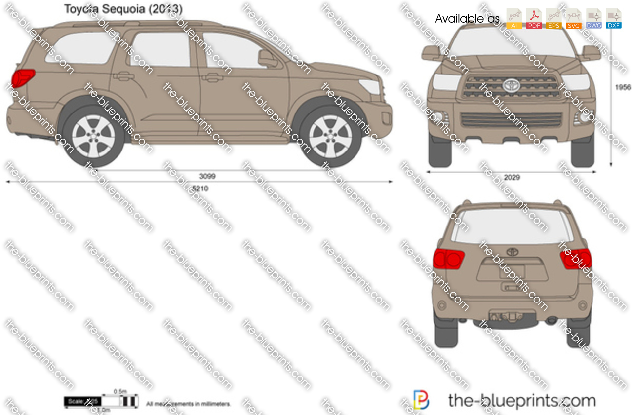 The Blueprints Com Vector Drawing Toyota Sequoia