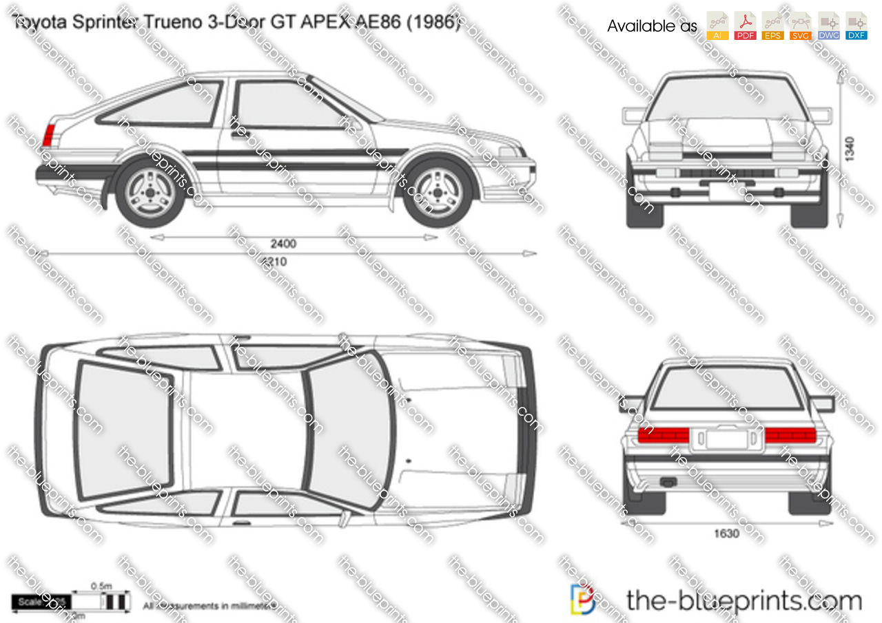 Toyota Sprinter Trueno 3-Door GT APEX AE86