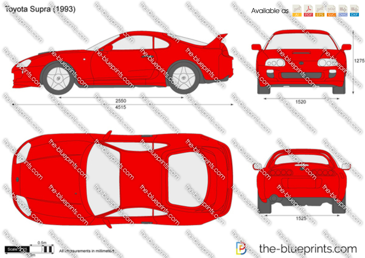 The Blueprints Com Vector Drawing Toyota Supra