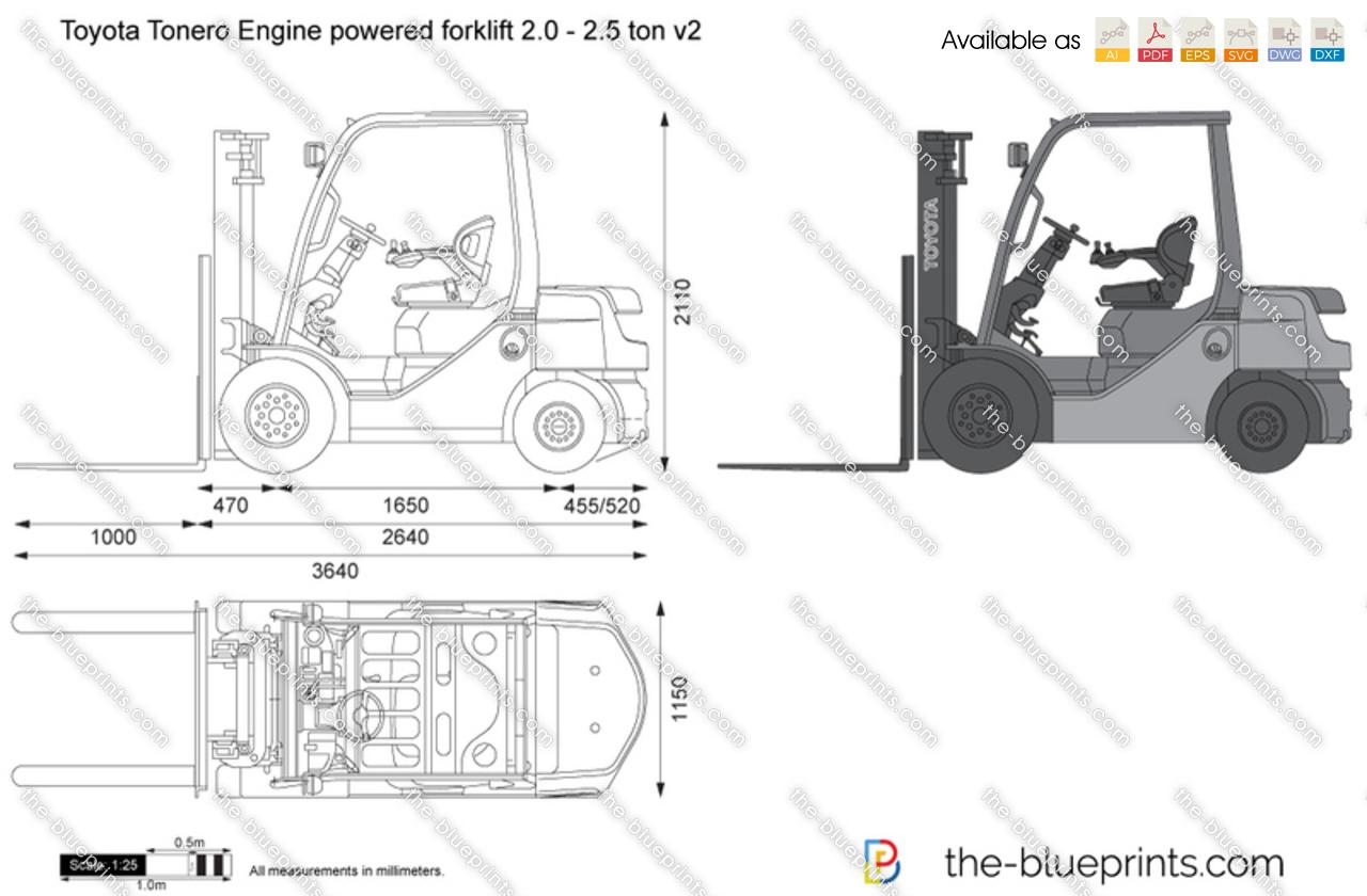 Toyota Tonero Engine powered forklift 2.0 - 2.5 ton v2