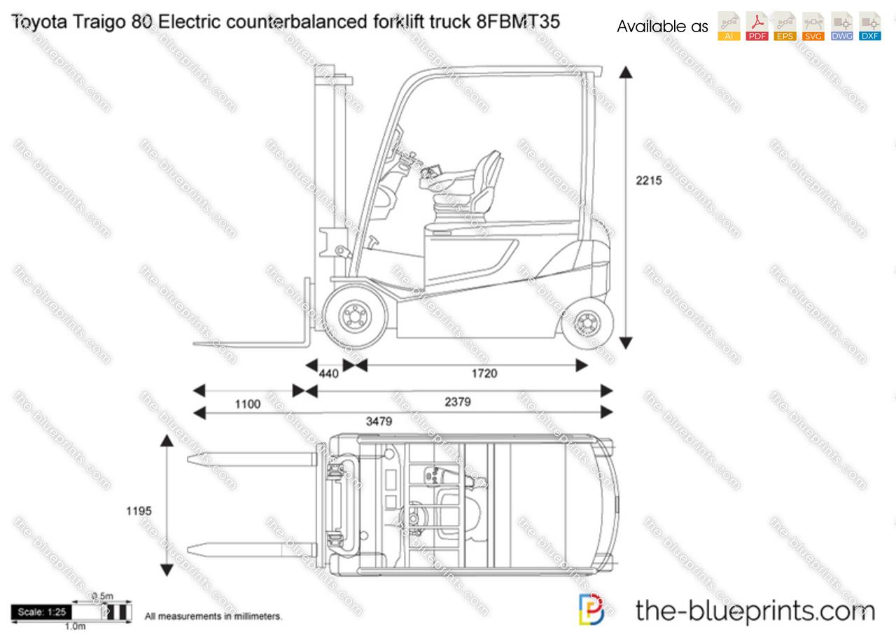 Toyota Traigo 80 Electric counterbalanced forklift truck 8FBMT35