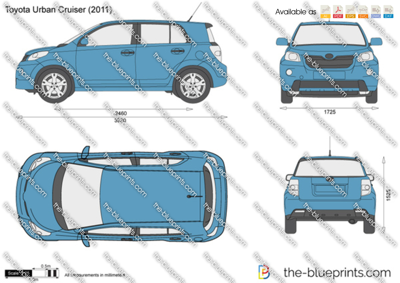 The-Blueprints.com - Vector Drawing - Toyota Urban Cruiser