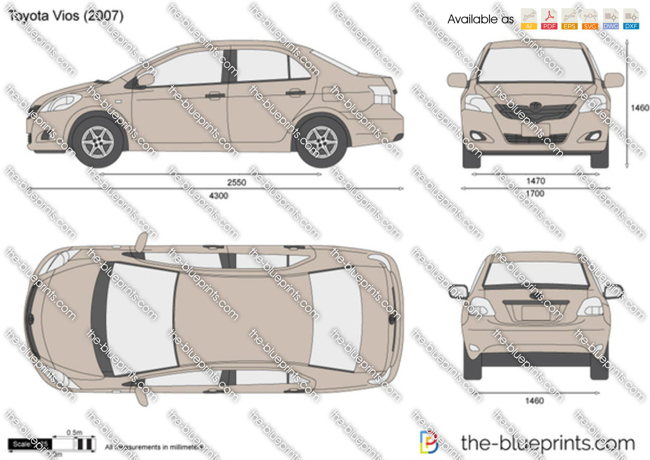 Toyota Vios Vector Drawing