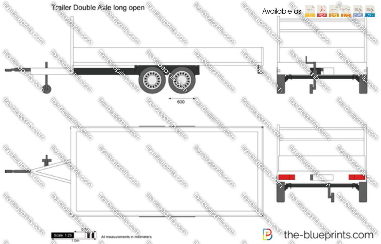 Trailer Double Axle long open