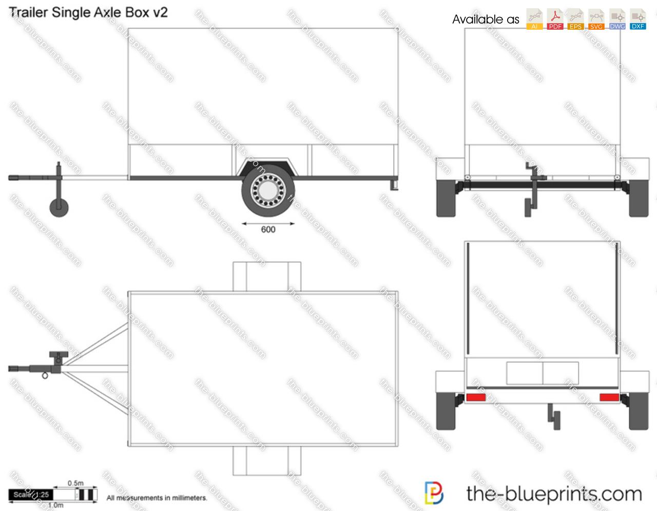 Trailer Single Axle Box v2