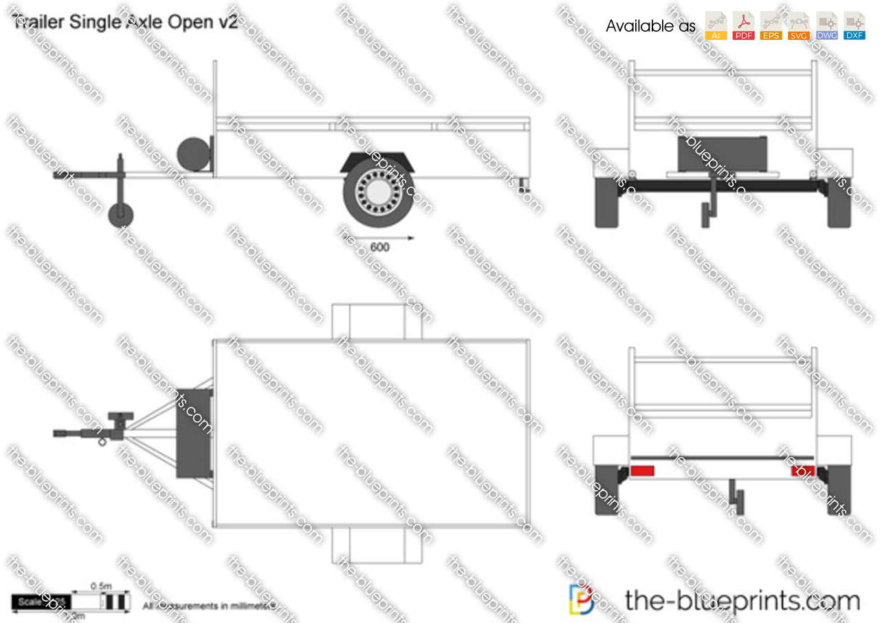 Trailer Single Axle Open v2