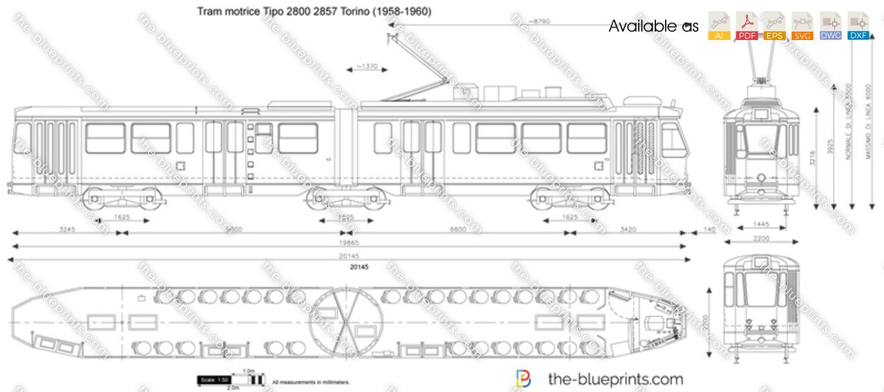 Tram motrice Tipo 2800 2857 Torino