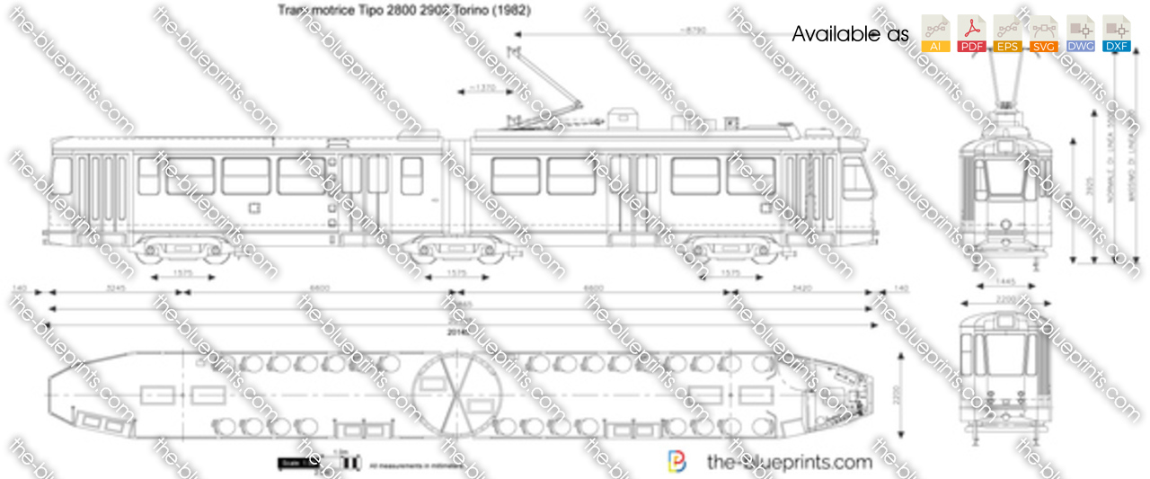 Tram motrice Tipo 2800 2902 Torino