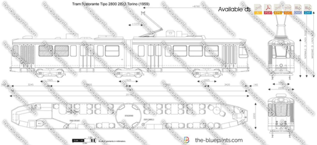 Tram Ristorante Tipo 2800 2823 Torino