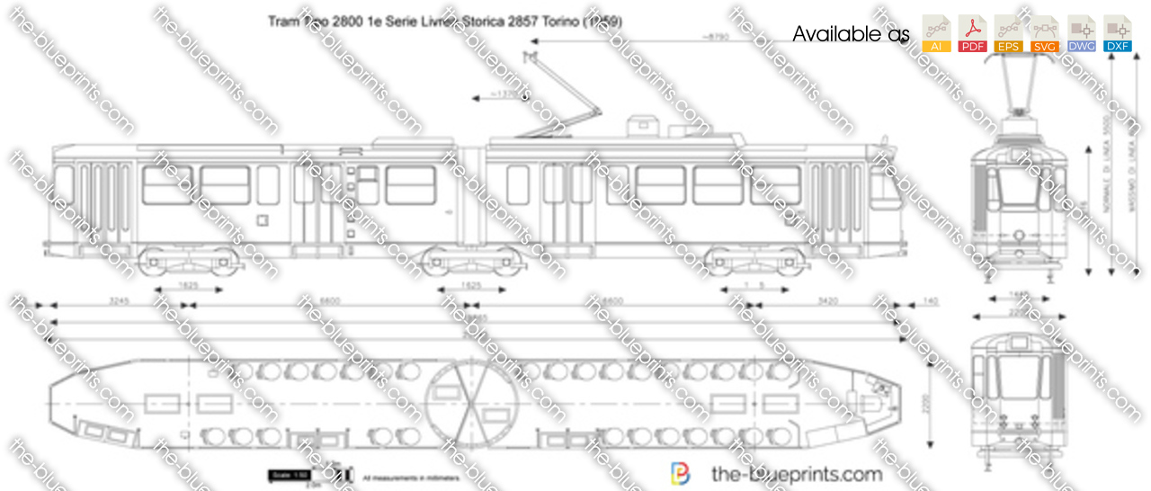 Tram Tipo 2800 1e Serie Livrea Storica 2857 Torino