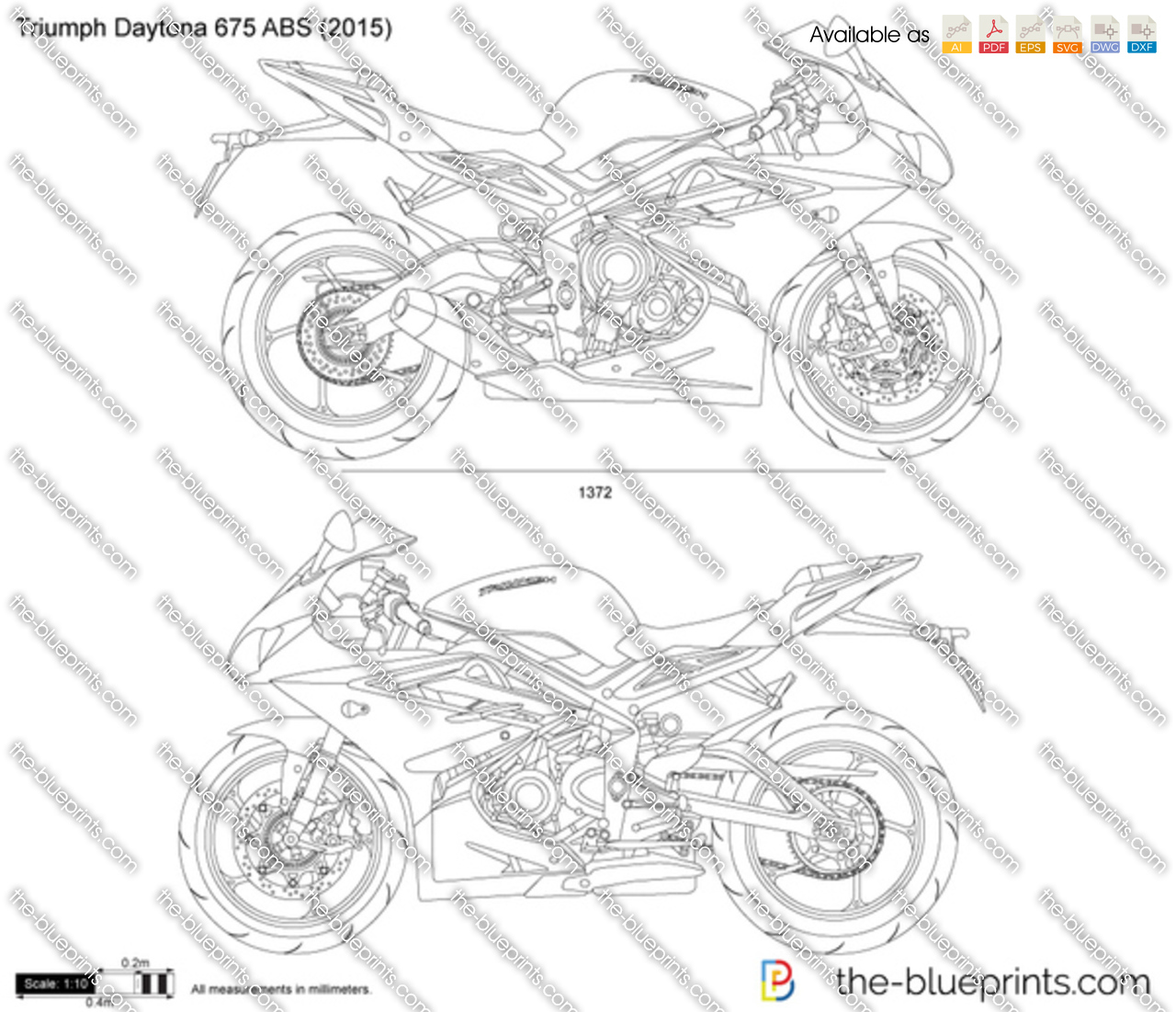 triumph daytona 675 abs vector drawing. Black Bedroom Furniture Sets. Home Design Ideas
