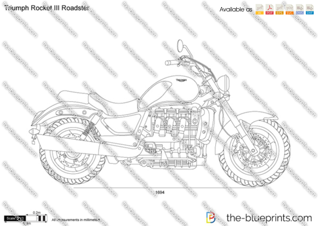 Triumph Rocket III Roadster Vector Drawing