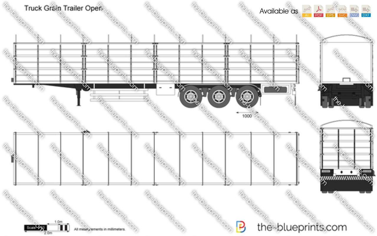 Truck Grain Trailer Open