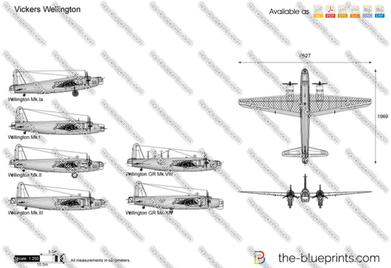 vickers wellington vector drawing