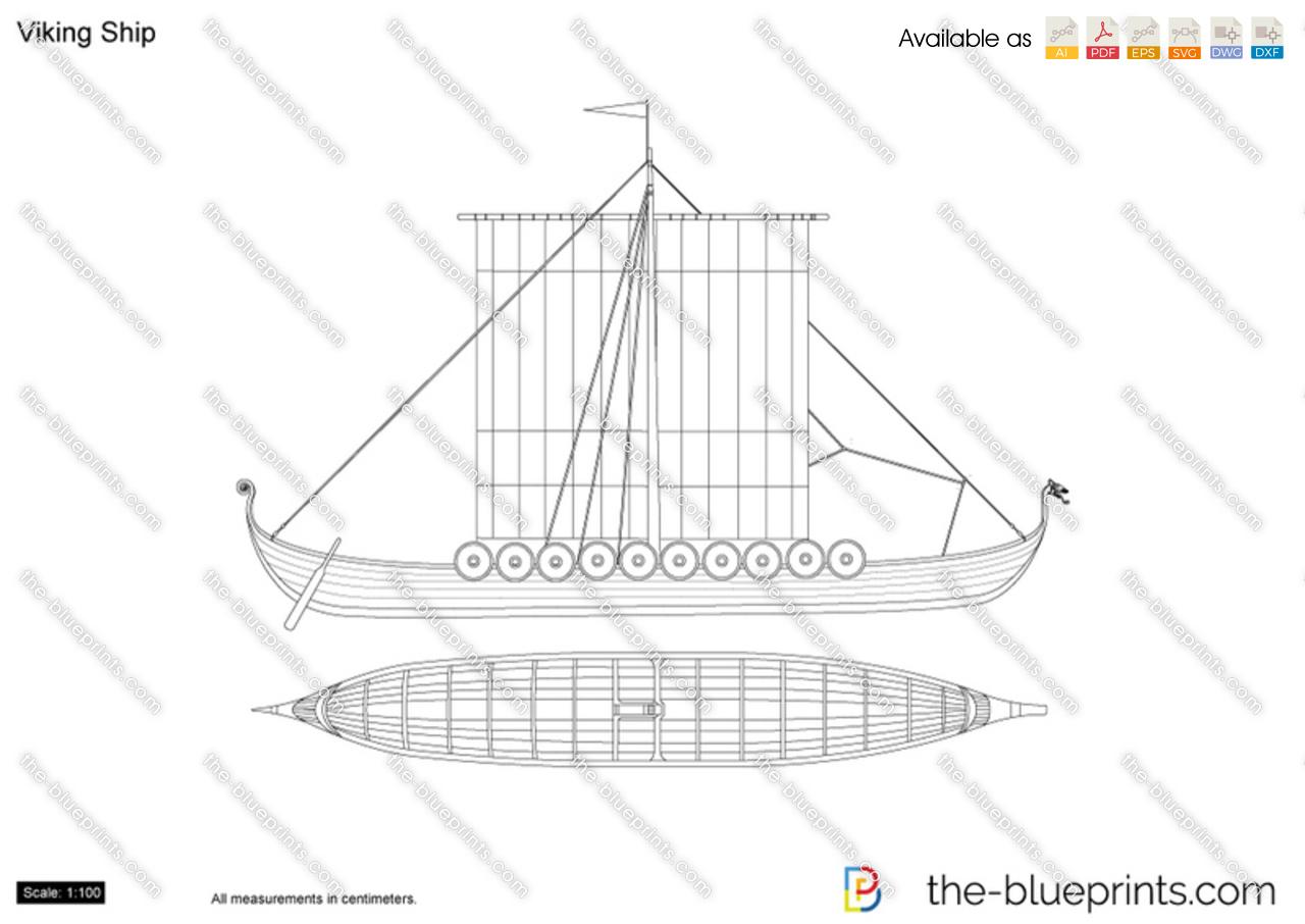 The-Blueprints.com - Vector Drawing - Viking Ship