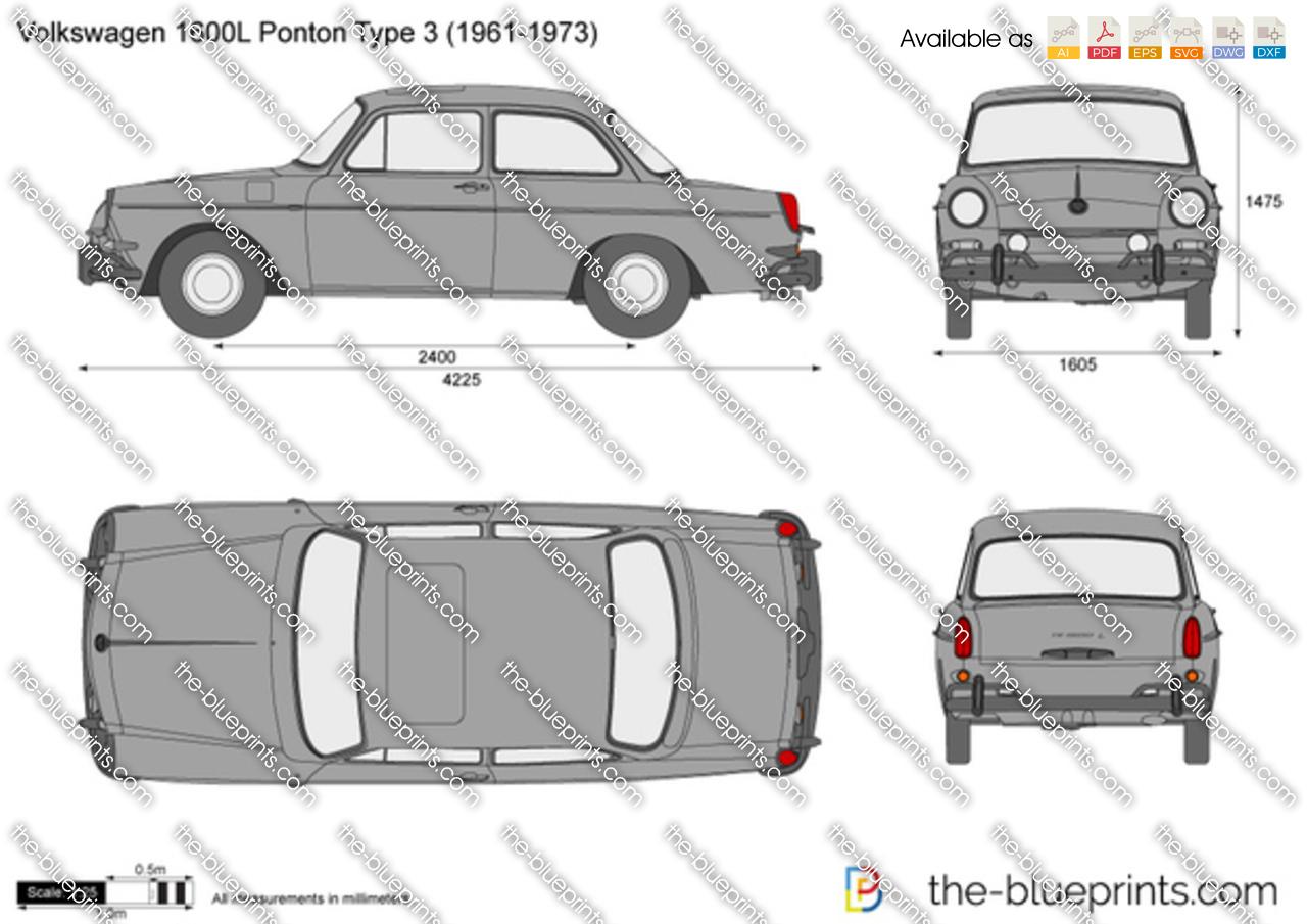 Volkswagen 1600L Ponton Type 3