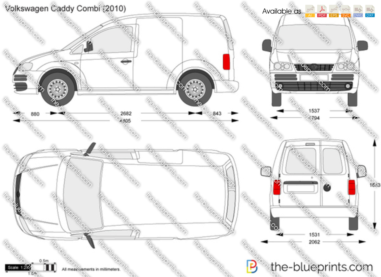 the vector drawing volkswagen caddy combi. Black Bedroom Furniture Sets. Home Design Ideas