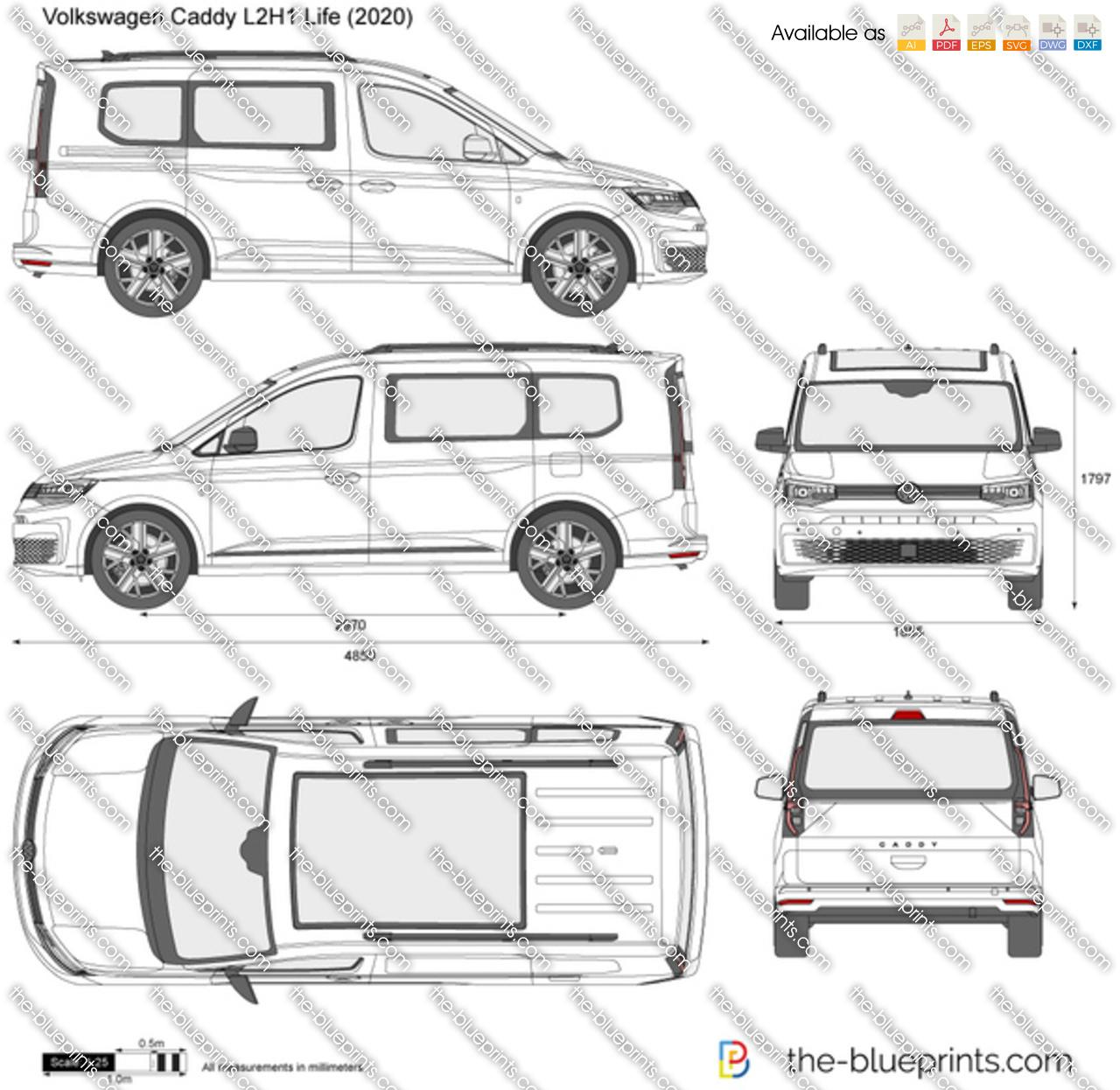 Volkswagen Caddy L2H1 Life