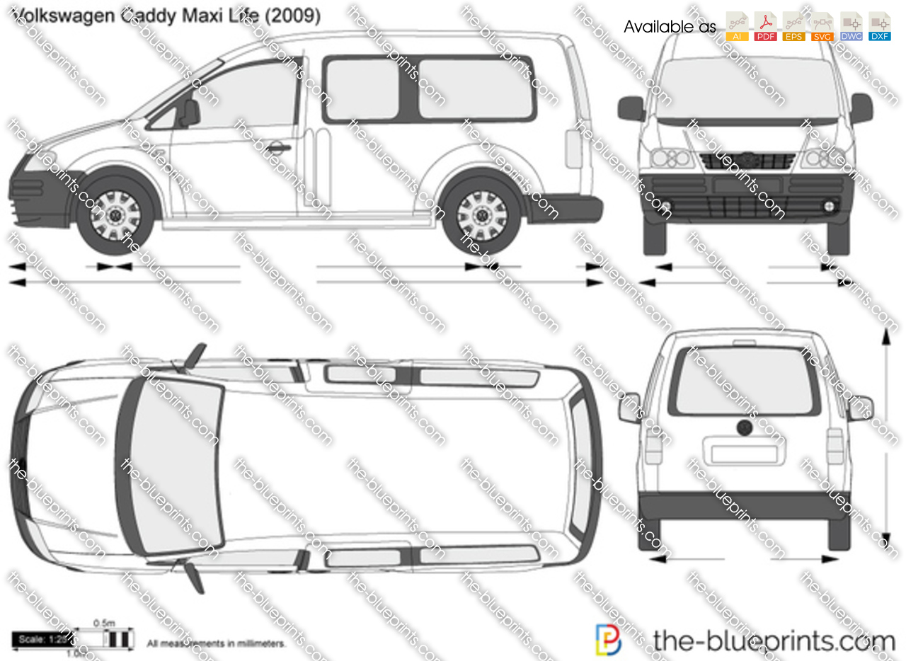 Vw Credit Login >> Volkswagen Caddy Maxi Life vector drawing