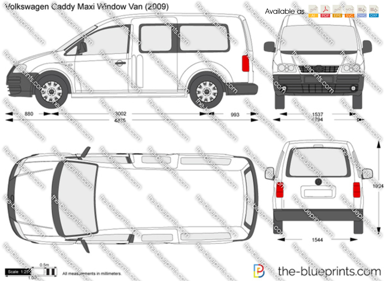 Volkswagen Caddy Maxi Window Van 2009