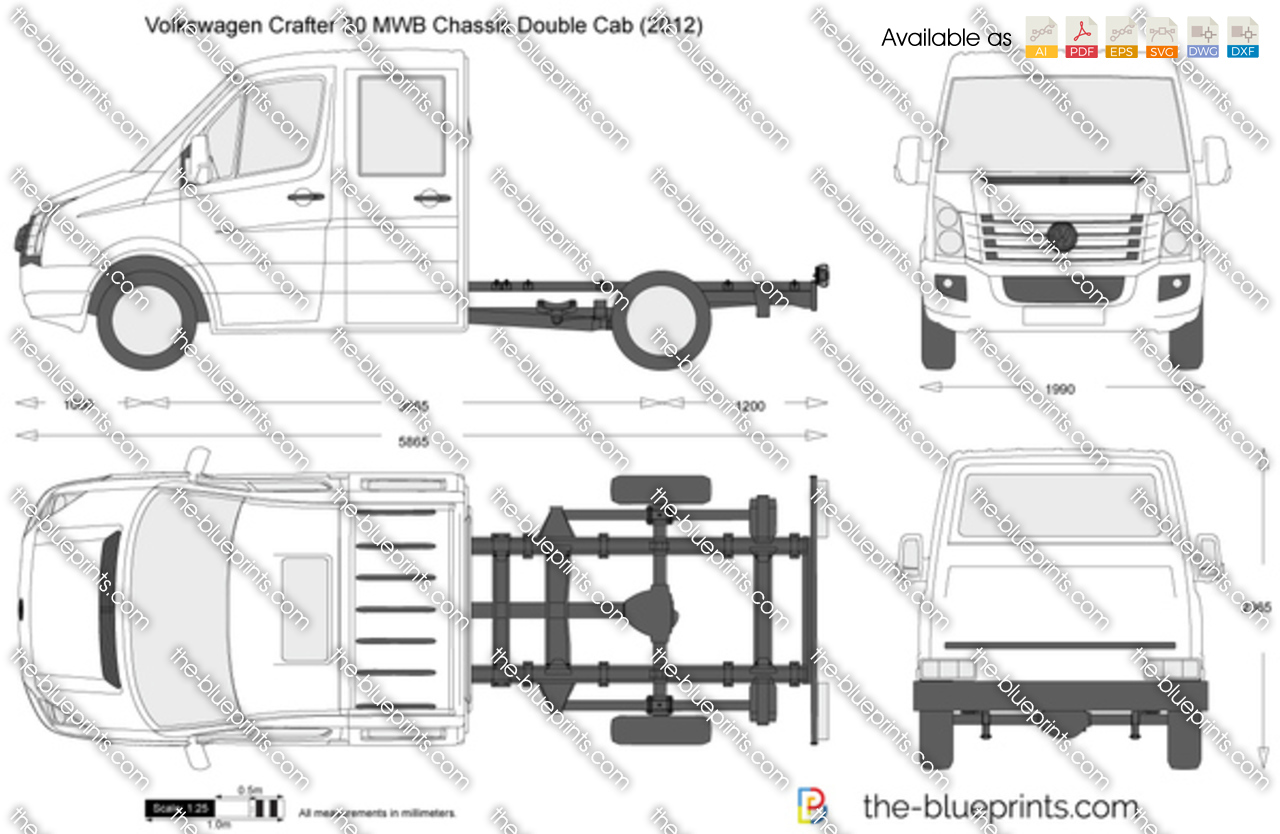Volkswagen Crafter 30 MWB Chassis Double Cab