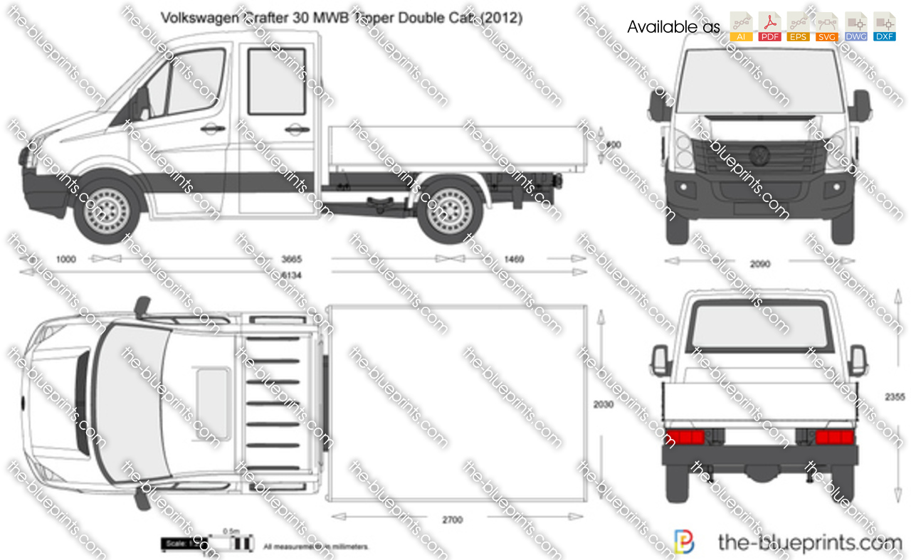 Volkswagen Crafter 30 MWB Tipper Double Cab 2014