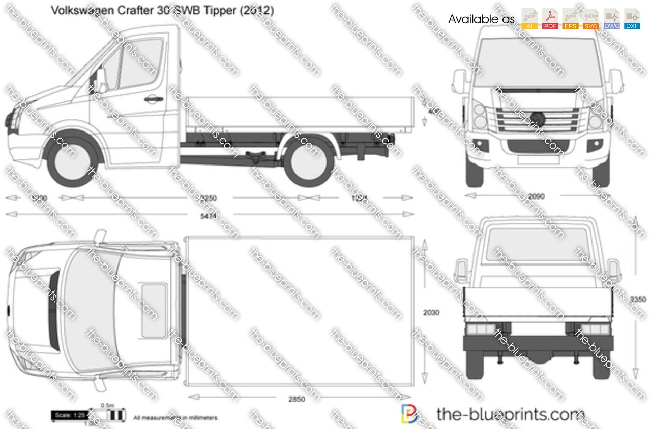 Volkswagen Crafter 30 SWB Tipper Single Cab