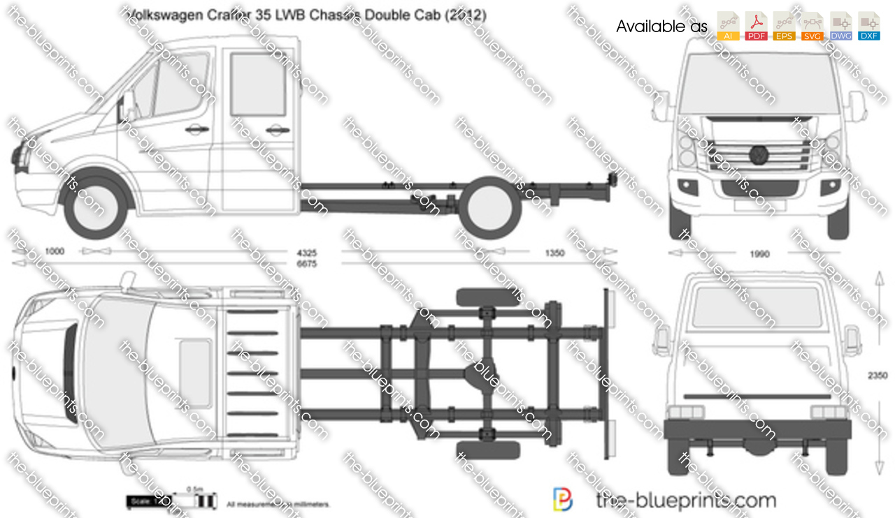 Volkswagen Crafter 35 LWB Chassis Double Cab