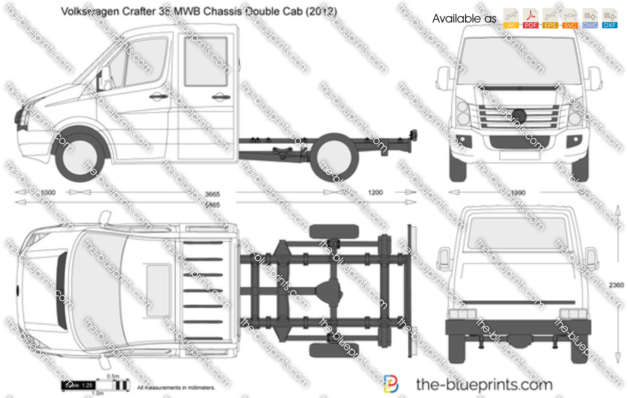Volkswagen Crafter 35 MWB Chassis Double Cab