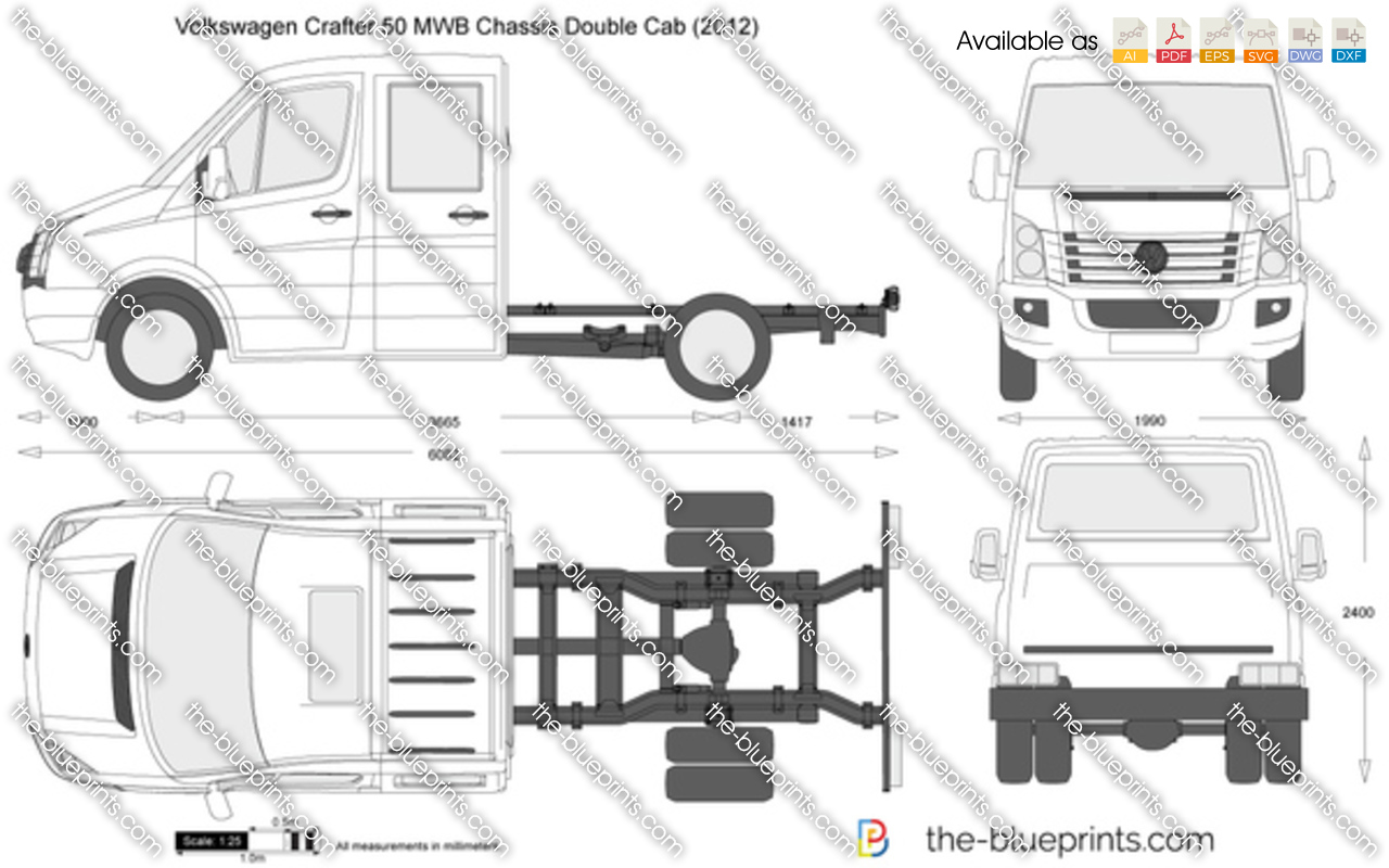 Volkswagen Crafter 50 MWB Chassis Double Cab