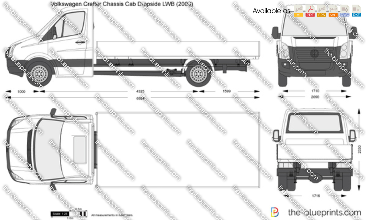 Volkswagen Crafter Chassis Cab Dropside LWB
