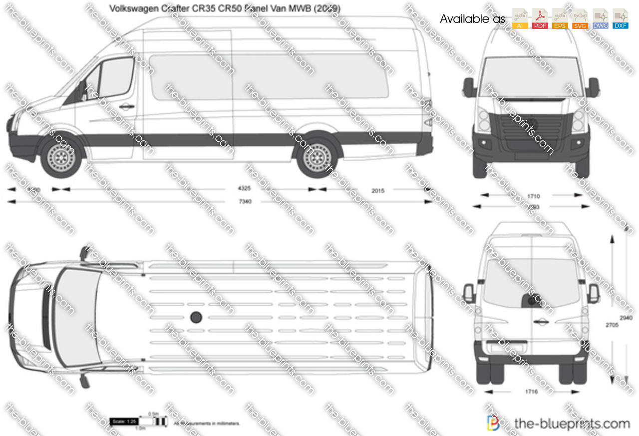 Volkswagen Crafter CR35 CR50 Panel Van LWB Maxi High