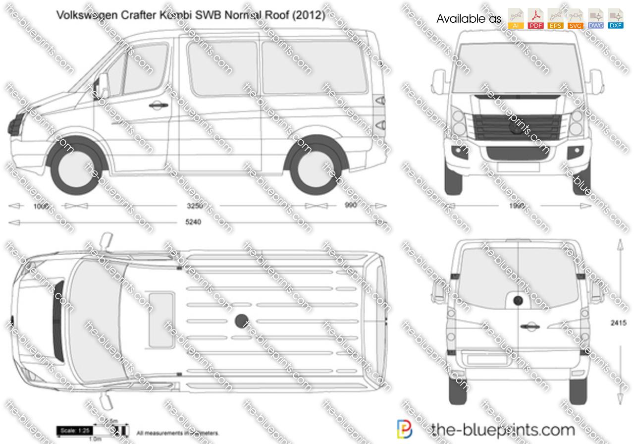 The Blueprints Com Vector Drawing Volkswagen Crafter