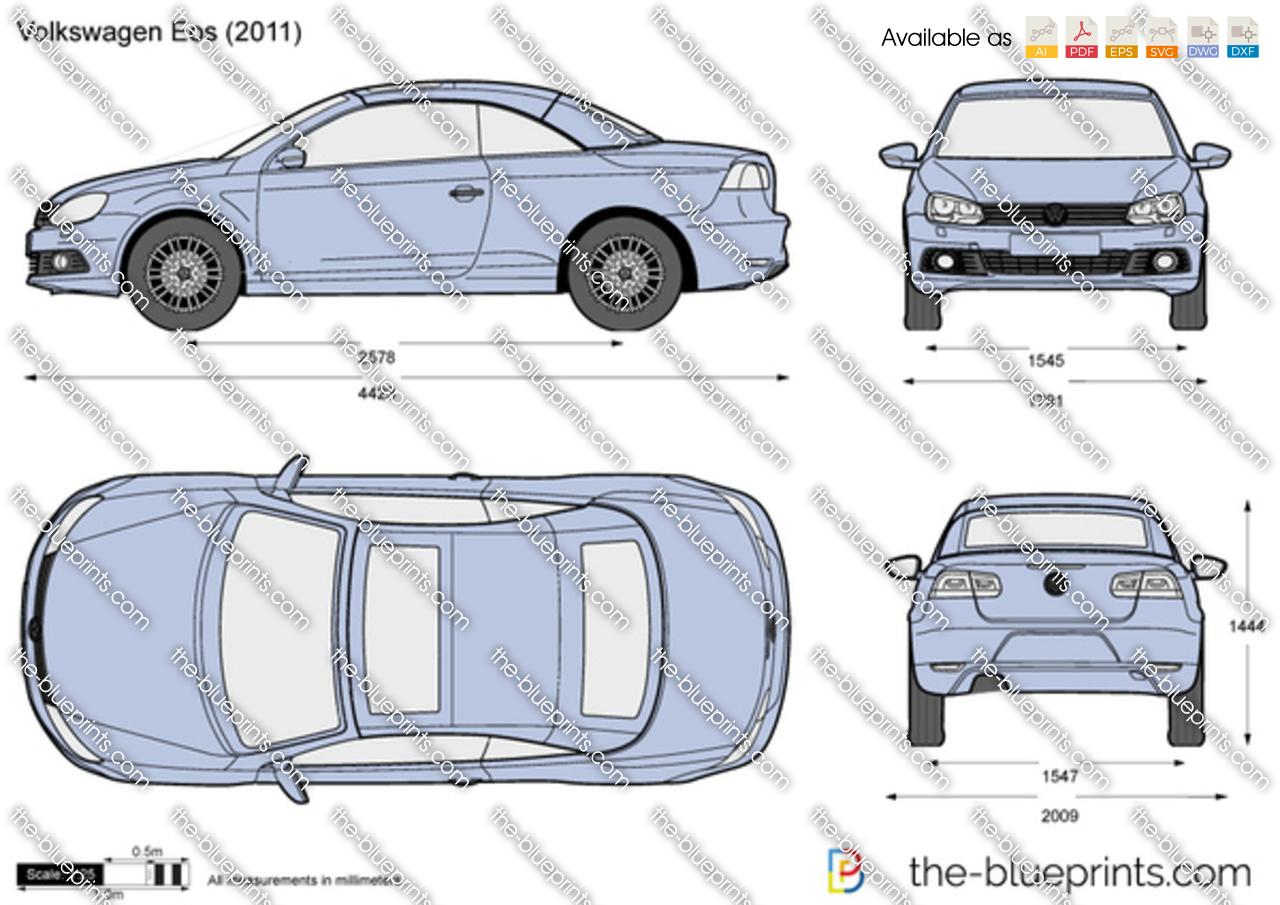 Volkswagen Eos Vector Drawing