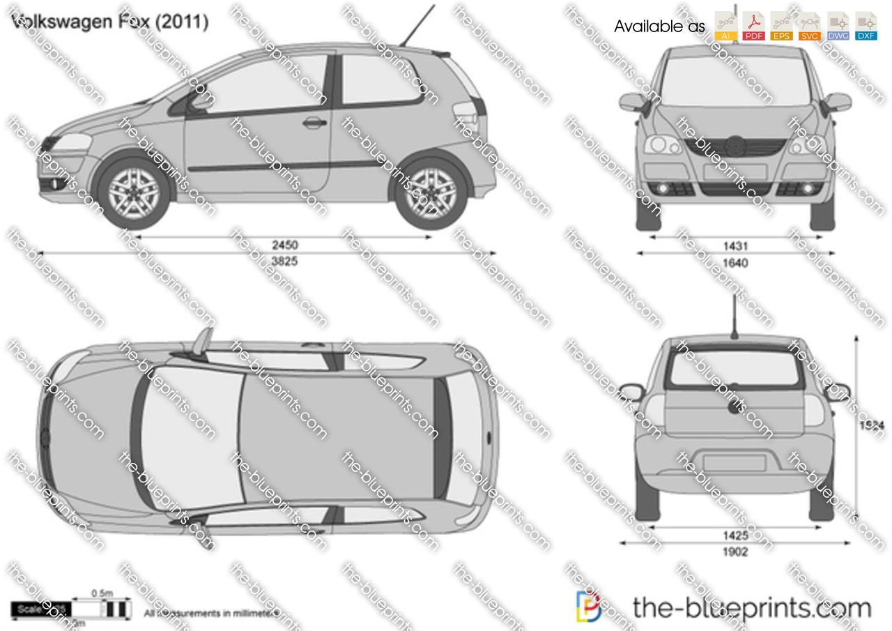 volkswagen fox vector drawing. Black Bedroom Furniture Sets. Home Design Ideas