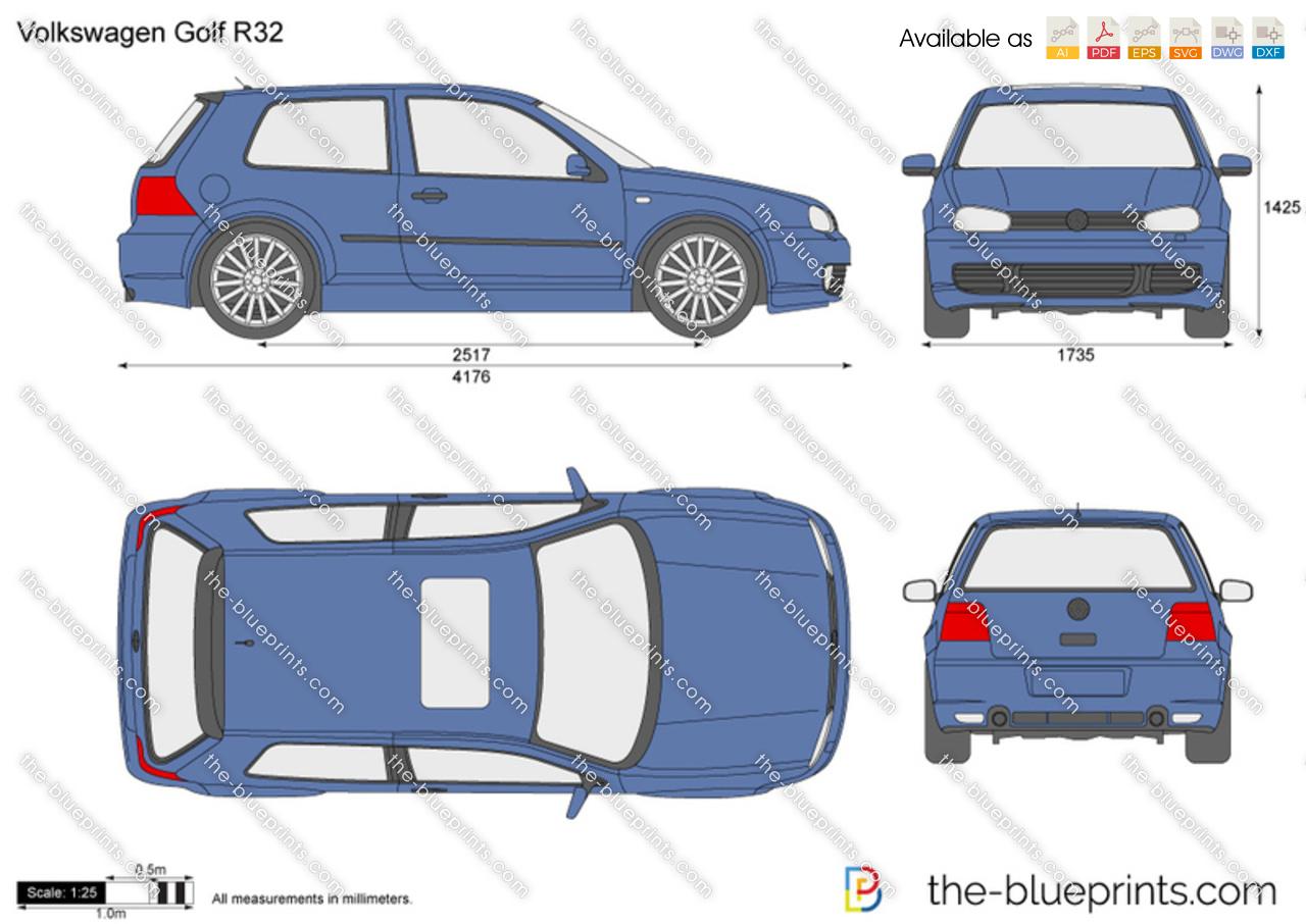 Volkswagen Golf Drawings Volkswagen Golf R32