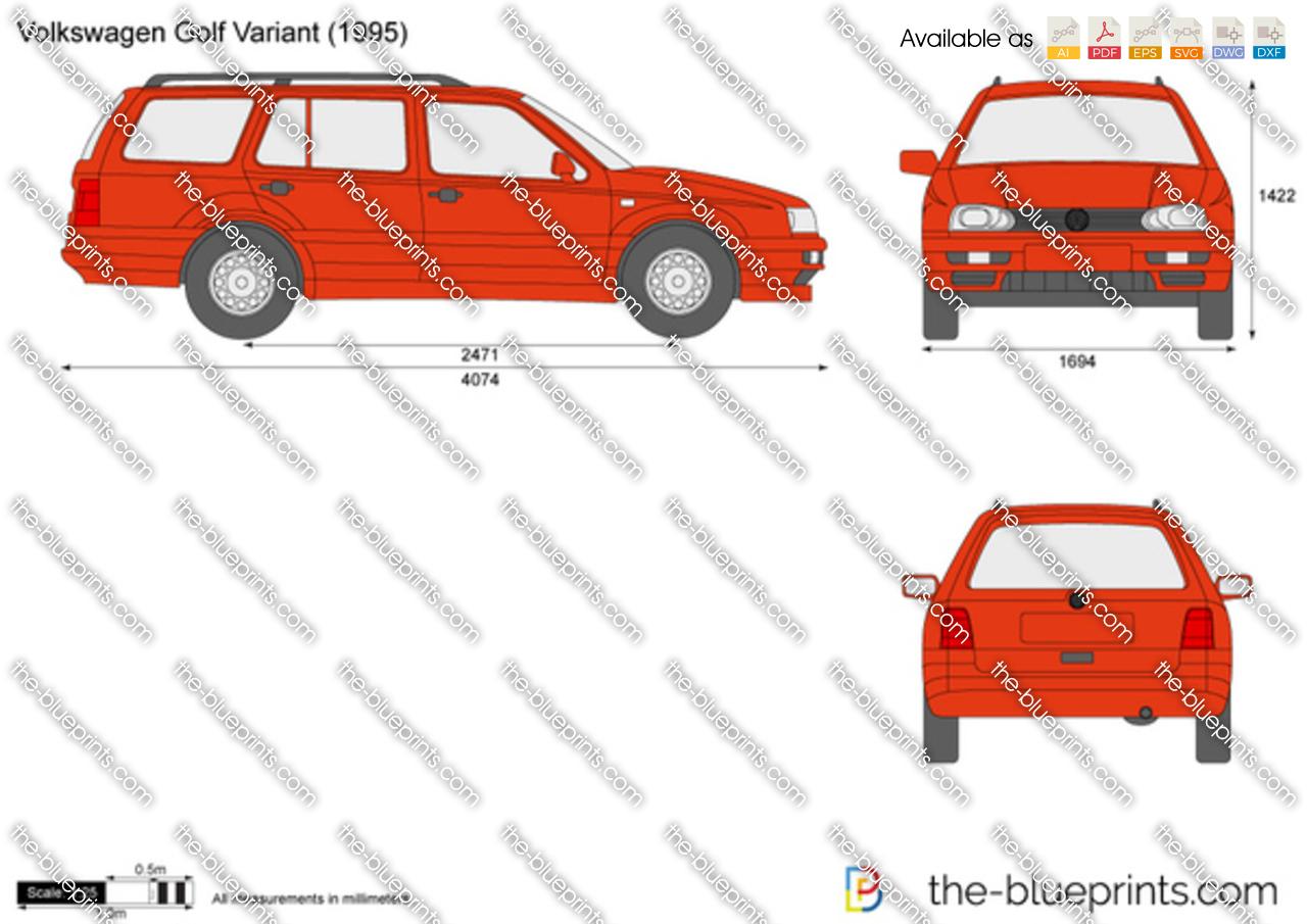 Volkswagen Golf Variant vector drawing