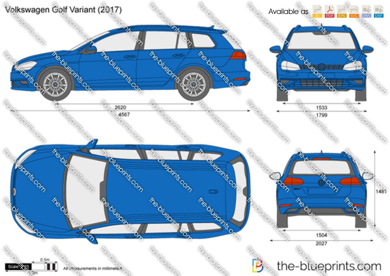 volkswagen golf variant vii vector drawing. Black Bedroom Furniture Sets. Home Design Ideas
