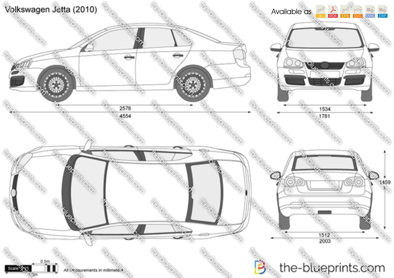 The-Blueprints.com - Vector Drawing - Volkswagen Jetta