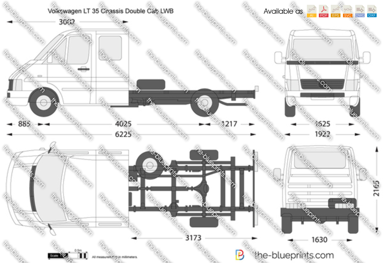 Volkswagen LT 35 Chassis Double Cab LWB