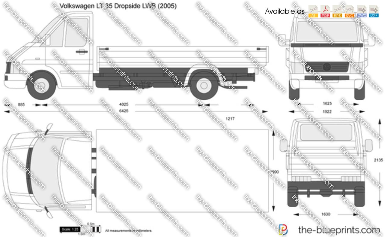 Volkswagen LT 35 Dropside LWB