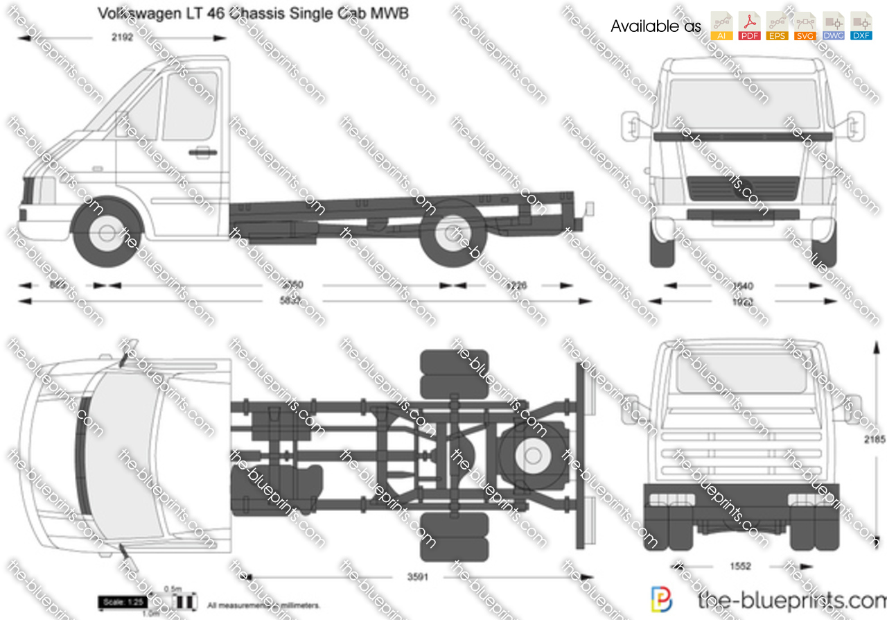 Volkswagen LT 46 Chassis Single Cab MWB