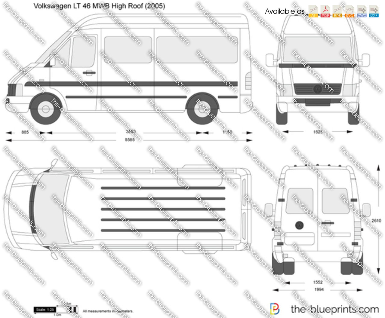 Volkswagen LT 46 MWB High Roof