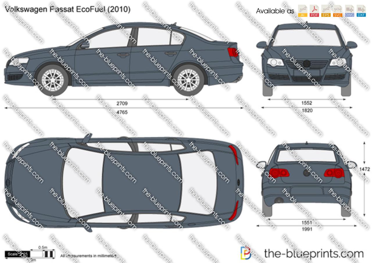 volkswagen passat ecofuel vector drawing. Black Bedroom Furniture Sets. Home Design Ideas