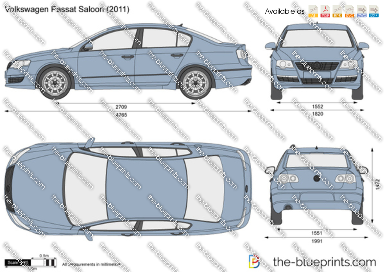the vector drawing volkswagen passat saloon. Black Bedroom Furniture Sets. Home Design Ideas